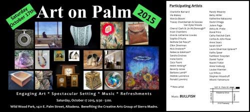 Art on Palm, Autumn 2015